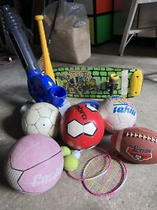 Assorted Balls and Sports equipment