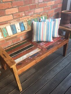 Recycle boat timber bench seat