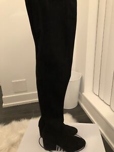 Steve Madden thigh-high suede boots