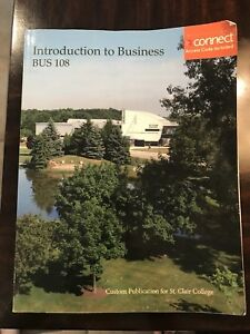 Intro to Business (St Clair College Edition) Textbook