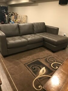 Over sized couch with chaise