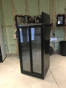Glass display commercial refrigerator