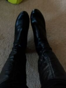 Black Leather Boots - Size 10