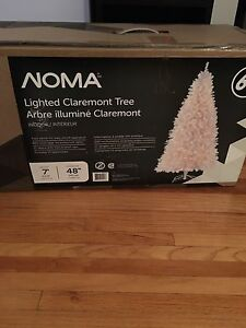 Brand new in box 7' Pre-lit White Christmas Tree
