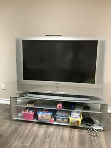 Stand for TV with glass shelve