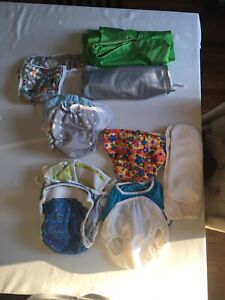 Cloth diaper covers, bags and sprayer