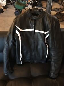 RK mens leather motorcycle jacket