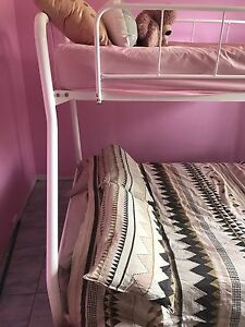Double top and bottom bunk beds furniture gumtree for Bunk bed with double on bottom