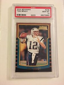 PSA 10 Gem Mint Bowman Tom Brady RC