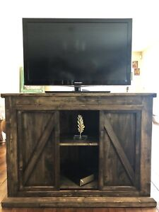 Rustic unique tv stand