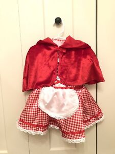 Little red riding hood costume 12-24months