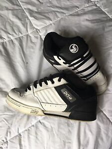 DVS black and white shoes