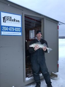 The One and Only Lake Winnipeg Ice Fishing Shack Rentals