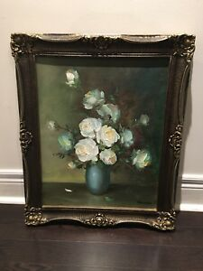 Floral picture with gilded frame