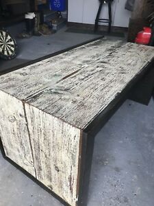 Coffee table. Rustic reclaimed barn board