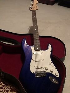 Fender squier strat guitar and amp