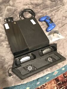PS4 500gb Black w/ controller, 2 games and a cooling fan stand