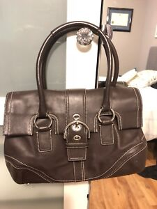 Leather Coach Bag- Brown Doctor bag