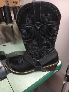 Sorel leather cowboy biker style winter boots sz8