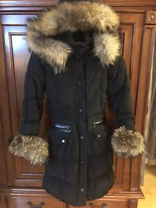 Rudsak black coat Small good condition