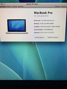 Mac book pro silver - like new!
