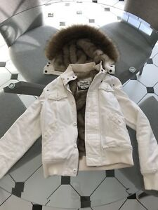 TNA Cream Winter Coat X-S
