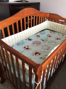 Wood baby cot with Mattress