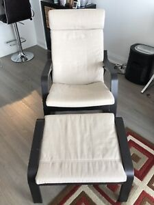 IKEA rocking chair with footstoil