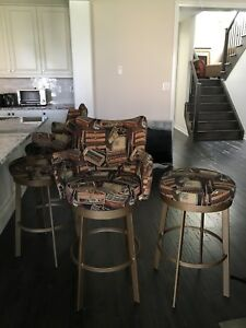 Cigar Themed Bar Stools - Quick Pickup & Great Quality