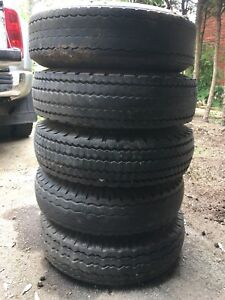 Free: 8-14.5 trailer tires and rims