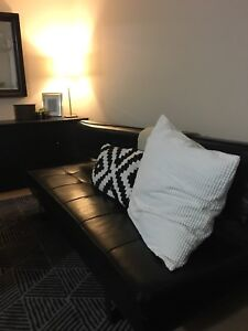Black Leather Futon Couch $89