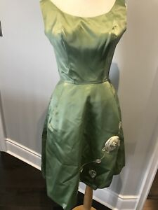 Vintage ILGWU Sage Green Dress