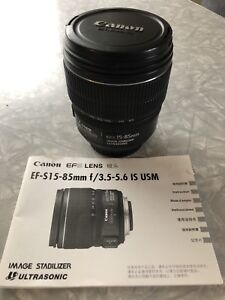 Canon  EFS 15-85mm IS USM lens