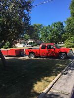 Handyman with full size pick up and trailer for services