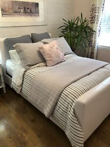 Double White Bed Frame