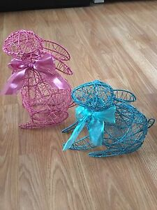 Decorative Wire Easter Bunnies