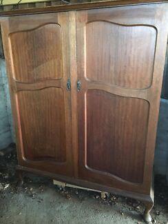 Antique hardwood wardrobe