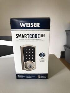 Weiser electronic deadbolt