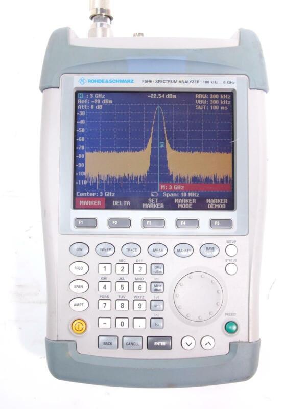 Rohde and Schwarz FSH6 100kHz - 6GHz Spectrum Analyzer 1145.5850.60
