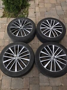 """VW 17"""" rims with all season tires"""