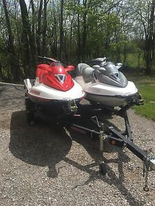 2006 Seadoo Wake Edition and 2006 Seadoo GTX-SC and dual trailer