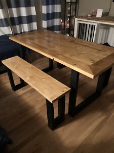 Handcrafted Kitchen Table (2 benches included)