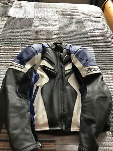 Men's Motorcycle Joe Rocket leather jacket Sz 48 L/XL $150