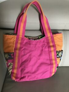 Vera Bradley small colorblock tote in Jazzy blooms