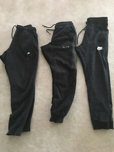 3 pair of men's black Nike sweatpants - size small