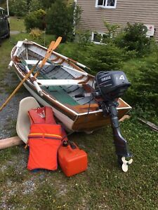 14 ft Wooden Boat with Yamaha 4 Stroke 2008