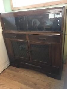 Antique china cabinet-walnut