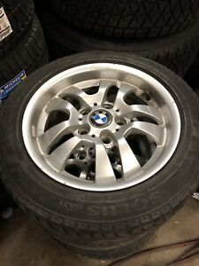 255/50/16 Winter Tires and  rims on bmw alloys