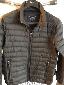 Authentic Armani Jeans Glossy nylon quilted down jacket