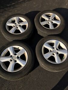 "15"" Mazda  Wheels Alloy Rims w/ Continental TrueContact Tires"